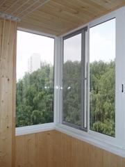Балконные рамы раздвижные из алюминия и ПВХ